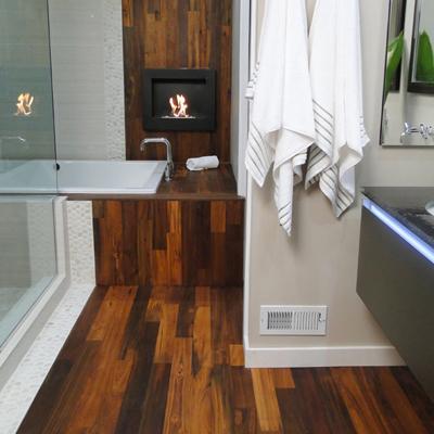 тиковый пол в ванную