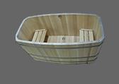 Прямоугольные деревянные купели